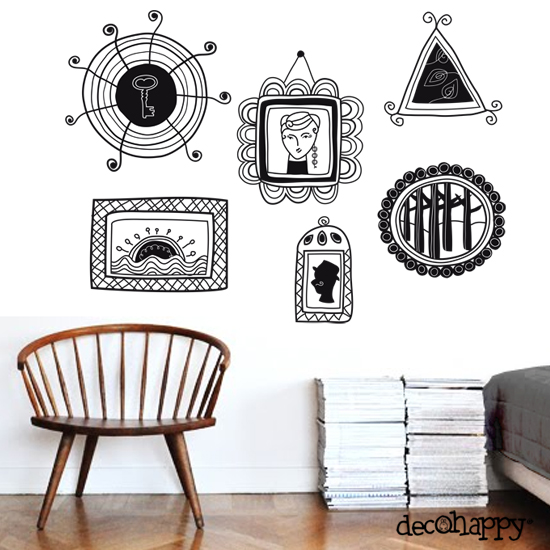 Vinilos adhesivos blog decohappy for Adhesivos decorativos pared