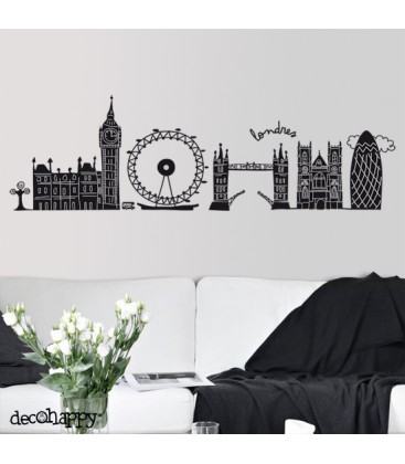 Vinilo decorativo londres decohappy venta online for Vinilos pared ciudades