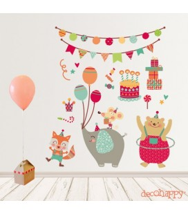 vinilo infantil decorativo Fiesta Happy