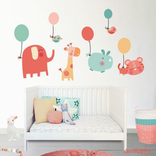 Vinilo bebe animales baby decohappy venta online for Vinilos para pared bebes