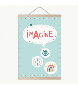 Lámina infantil Imagine