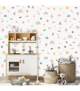 Papel pintado infantil Happy love